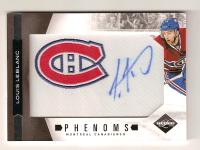 Louie Leblanc's Limited Phenoms autographed rookie card
