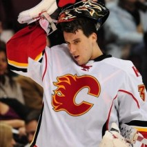 Flames back-up goalie Henrik Karlsson was placed on waivers on Thursday morning. (Anne-Marie Sorvin-US PRESSWIRE)