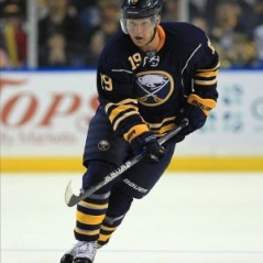 Cody Hodgson may be putting up good numbers on the Sabres top line, but he has struggled in the face off circle. (Kevin Hoffman-US PRESSWIRE)