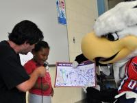 Washington Capitals and Elliot Segal participate in playground design day. (Capitals.com/Lincoln Hockey Media)