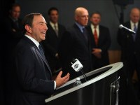 Based on prior history, NHL commissioner Gary Bettman probably expects the NHLPA to cave sooner or later. (Brad Penner-US PRESSWIRE)