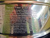 2011-12 Kings names on the Stanley Cup (credit: Mike Bolt/Hockey Hall of Fame)