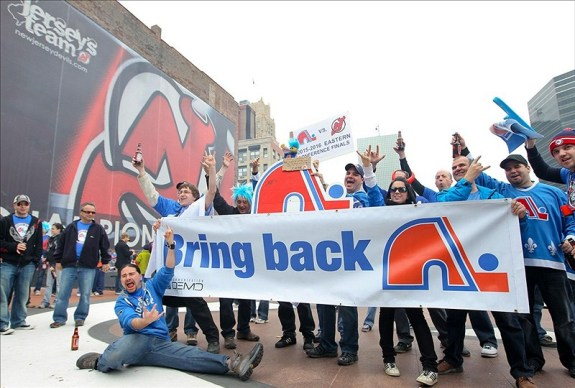 Fans of the late Nordiques believe they deserve an NHL team, despite their status as the smallest market team upon their move to Denver. (Ed Mulholland-US PRESSWIRE)
