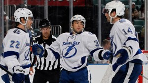 Conacher scored the Lightning's second goal in a 4-2 loss to the Bruins.
