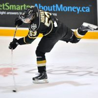 London Knights forward Bo Horvat is just starting to receive recognition but his game has always been first round worthy (Terry Wilson/OHLImages)