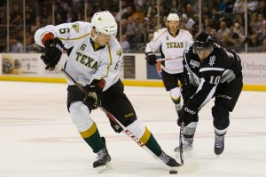 Jamie Oleksiak will reportedly make his NHL debut Friday against Phoenix. (Josh Rasmussen / Texas Stars)