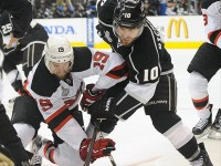 Travis Zajac battles Mike Richards (Jayne Kamin-Oncea-USA TODAY Sports)