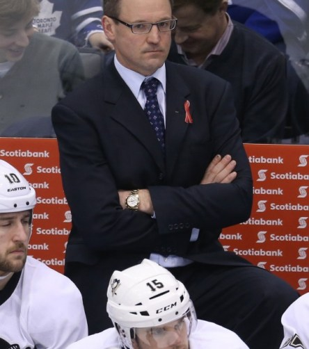 Dan Bylsma needs to find a sixth defenseman who is not a liability in the playoffs.(Tom Szczerbowski-USA TODAY Sports)