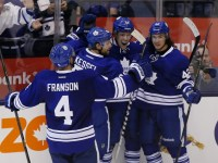 Phil Kessel and Tyler Bozak celebrating goals together has become common in Toronto (John E. Sokolowski-USA TODAY Sports)