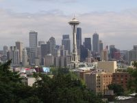With mountains, lakes, forests and money, about the only thing Seattle doesn't have is the NHL - yet. Credit: Spmenic, at Wikimedia Commons.