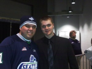Co Admin-Chris Morrison with Seattle's Calvin Pickard Goalie-2nd Round Pick in 2010 for the Colorado Avalanche (Chris Morrison)