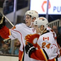 Sean Monahan (left) (Kyle Terada-USA TODAY Sports)