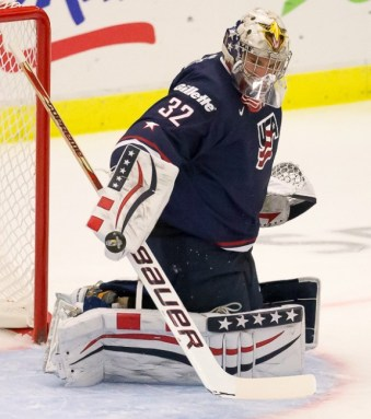 Jon Gillies of Team USA - 2014 World Juniors (WJHC)