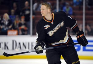 Corey Perry is leading the way for Team Canada. (Christopher Hanewinckel-USA TODAY Sports)