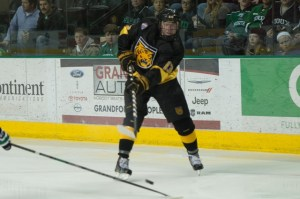 Olofsson of the Colorado College Tigers