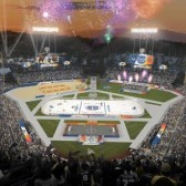 Dodger Stadium: one big outdoor party for the NHL. (provided by the NHL)