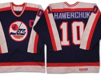 The current Winnipeg Jets might have a different jersey design, but the jerseys that the team wore during the 80s were certainly memorable. (Photo Credit: Classic Auctions)