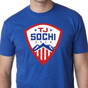 Shirts like this one popped up everywhere after Oshie became a national hero