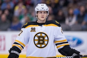 Fortunato compares his game to Torey Krug of the Boston Bruins. (Jerome Miron-USA TODAY Sports)