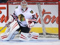 Antti Raanta is back with the Chicago Blackhawks, and fantasy managers should see how the goalie backs up Corey Crawford this season. (Sergei Belski-USA TODAY Sports)