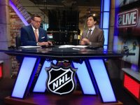 Steve  On NHL Live With co-host E.J. Photo Credit: (Steve Mears)