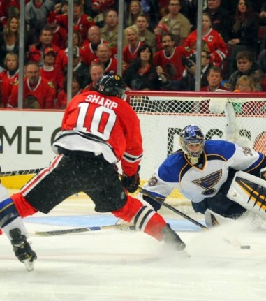 The Blues dropped Game 6 against the Blackhawks on Sunday afternoon (Dennis Wierzbicki-USA TODAY Sports)