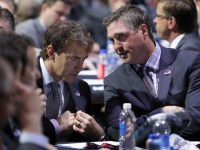 Joe Sakic and Patrick Roy (Ed Mulholland-USA TODAY Sports)