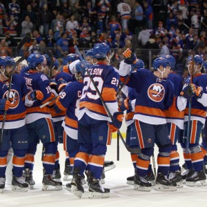 The Isles fans are trying to reproduce the Nassau Coliseum atmosphere. (Andy Marlin-USA TODAY Sports)