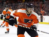 It's safe to say that Michael Del Zotto is enjoying life with the Philadelphia Flyers. (Amy Irvin / The Hockey Writers)