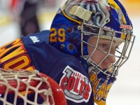 MacKenzie Blackwood: one of the top goalie prospects for the 2015 NHL Draft. (Photo: Dan and Margaret Hickling)