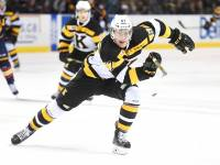 Power forward Lawson Crouse is regarded very highly as his place in NHL Central Scouting's Midterm rankings depitcts. (OHL Images)