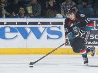 (Marissa Baecker/www.shootthebreeze.ca) Kelowna Rockets forward Nick Merkley is knocking on the door of the top 10 for the 2015 NHL draft after earning WHL rookie of the year honours last season and then leading the league in scoring at last month's holiday break. He's since been surpassed but remains a riser in the various rankings.