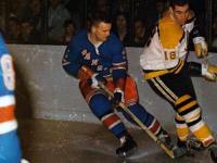 Ulf Sterner's first NHL game vs Boston