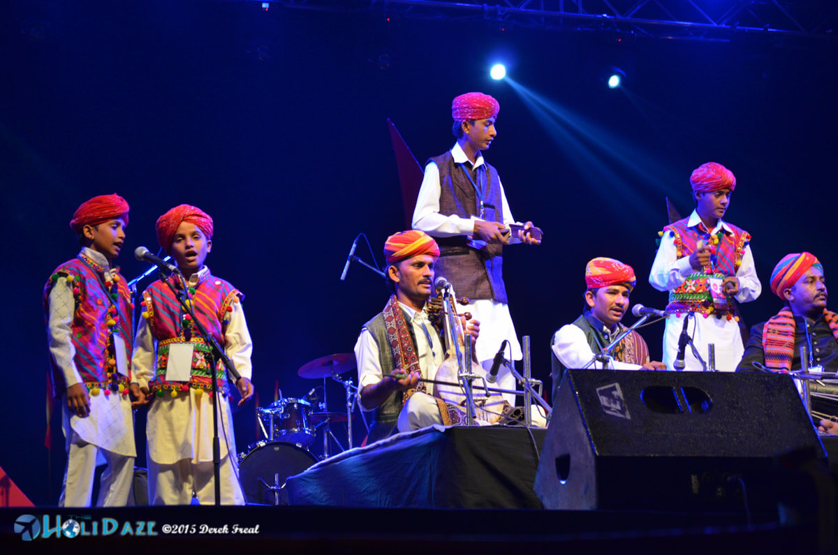 The Jaisalmer Boys performing at the Pushkar Camel Fair 2015, part of The Sacred Pushkar event