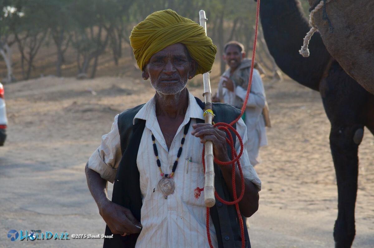 Camel herder at the Pushkar Camel Fair 2015