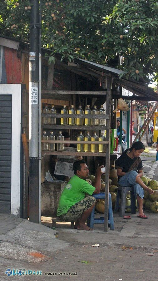 Indonesia By Motorcycle: Roadside gasoline vendors
