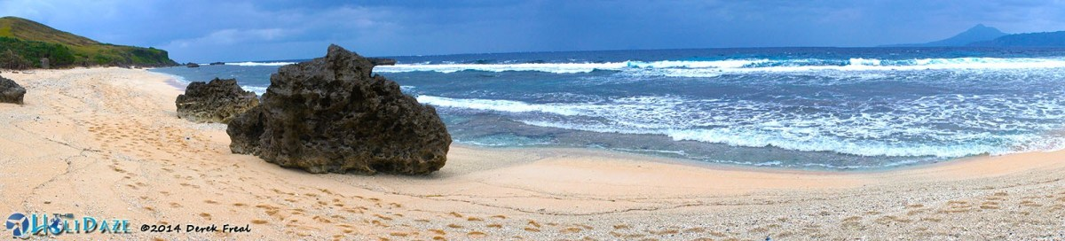 Morong Beach is the iconic beach of Sabtang island, Batanes, in the northernmost region of the Philippines