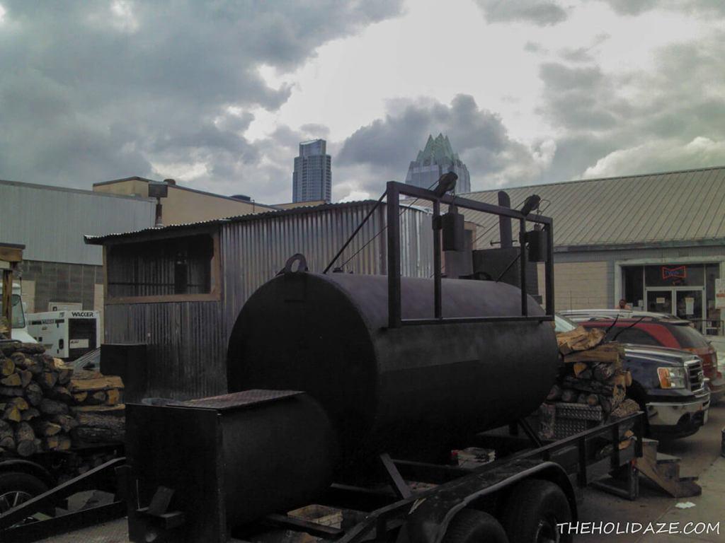 SXSW 2012 smoker on a trailer