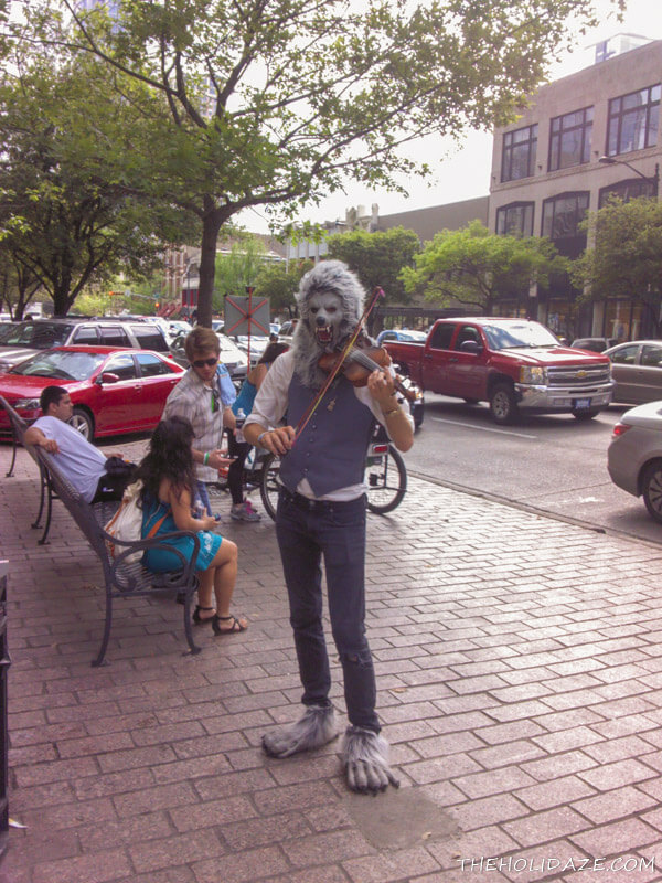 "Things like this are perfectly normal in Austin even when it's not SXSW. Our motto is ""Keep Austin Weird"""