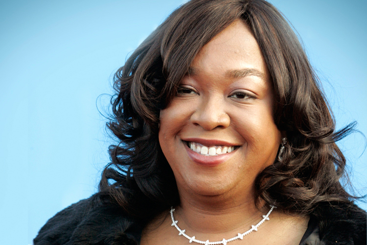 """Producer and writer Shonda Rhimes, creator of the  """"Grey's Anatomy"""" television series arrives at 39th Annual NAACP Image Awards in Los Angeles"""