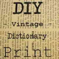 Easy DIY Vintage Dictionary & Encyclodepia Prints