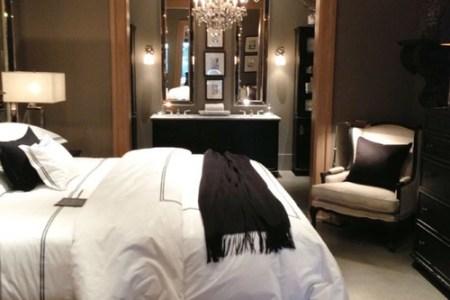 dark bedroom w chandelier