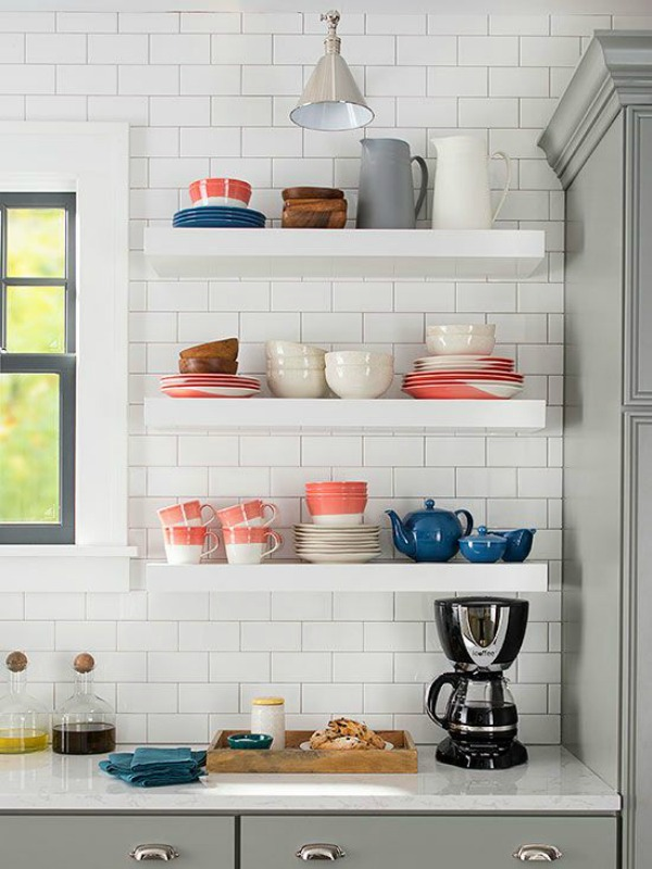 Small kitchen design beach cottage the house of silver for Beach cottage kitchen design ideas