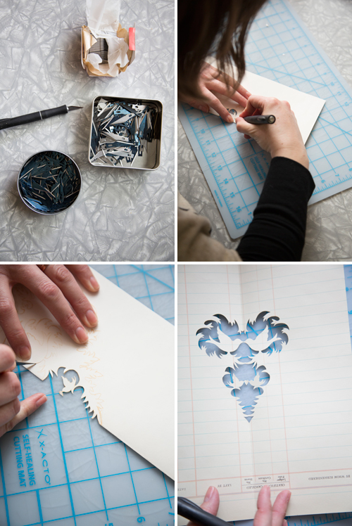 steps to paper cutting with Cindy Bean
