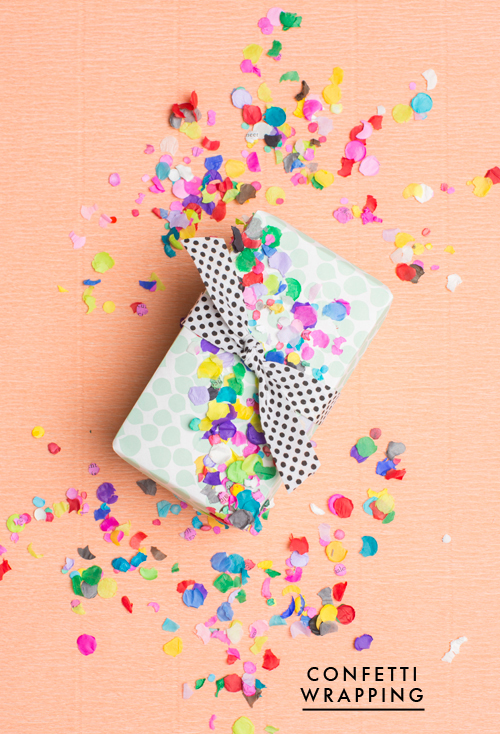 Confetti gift topper for spring