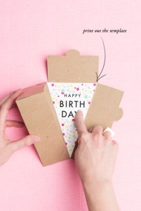 print off this free printable and add it into a cake box from A La Modo