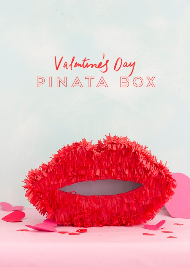 Valentine's Day pinata boxes red lips