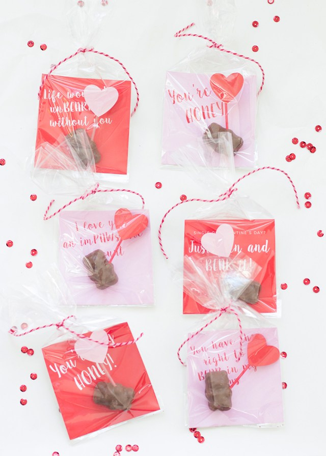 Chocolate covered cinnamon bear valentines