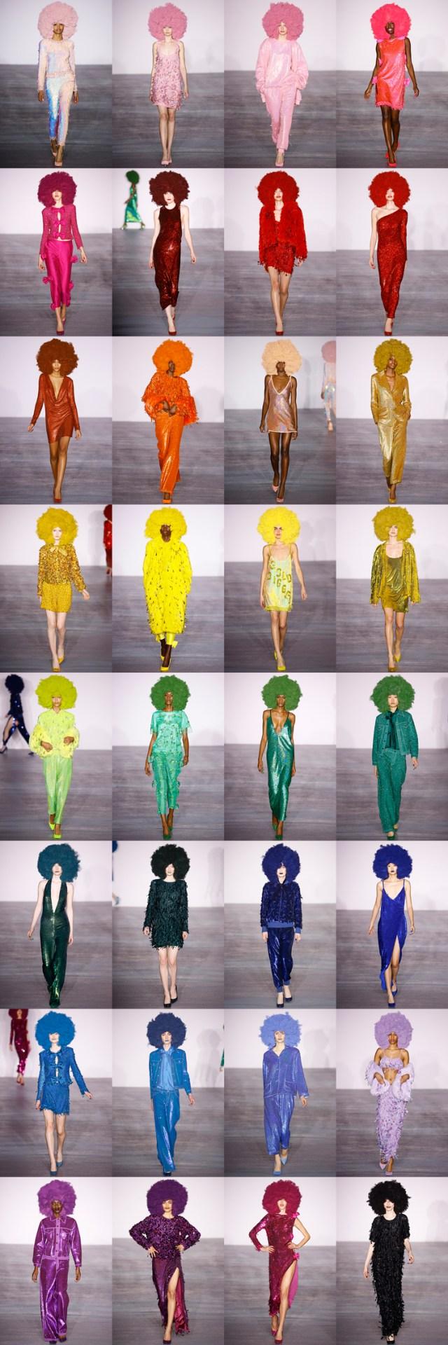 Rainbow fros by Ashish Fall 2016 ready to wear