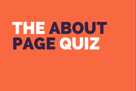 take the About page quiz t